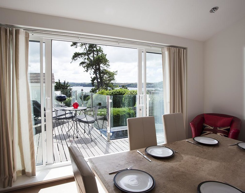 Lyonesse in Rock, Cornwall offers stunning sea views from the dining room and balcony.
