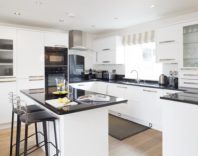 Enjoy preparing family meals in the well equipped modern kitchen at Lyonesse in Rock, North Cornwall