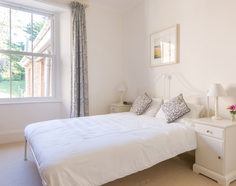 The first floor double bedroom at 2, The Terrace, a self catering, holiday house on the Camel Estuary in Rock, Cornwall.