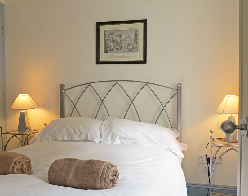 Luxury self catering Old Brea Coach House has a convenient ground floor double bedroom with ensuite beyond the utility room.
