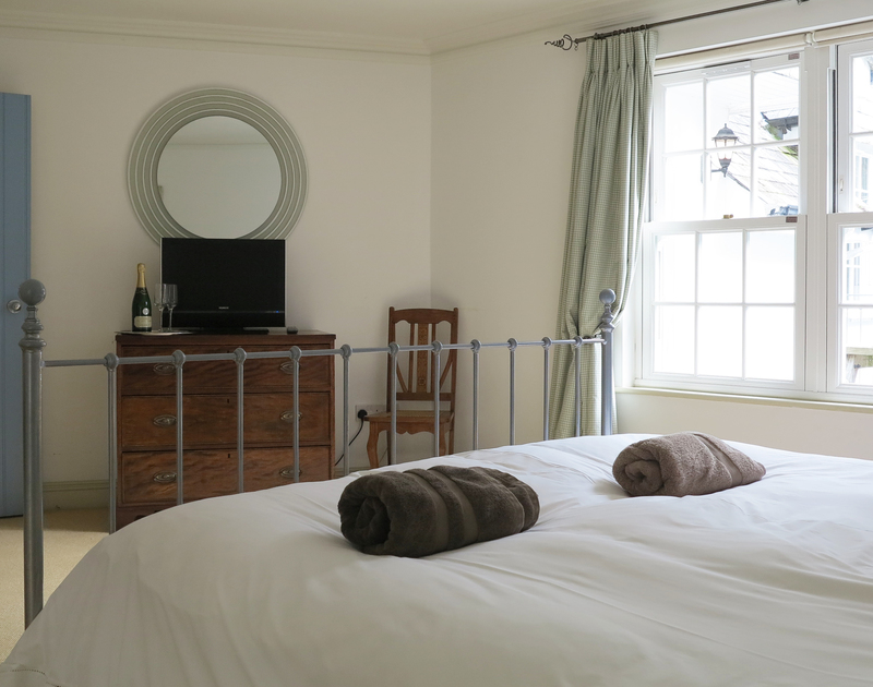 Sleep peacefully in the luxurious master bedroom suite at Old Brea Coach House, Daymer Bay, Cornwall.