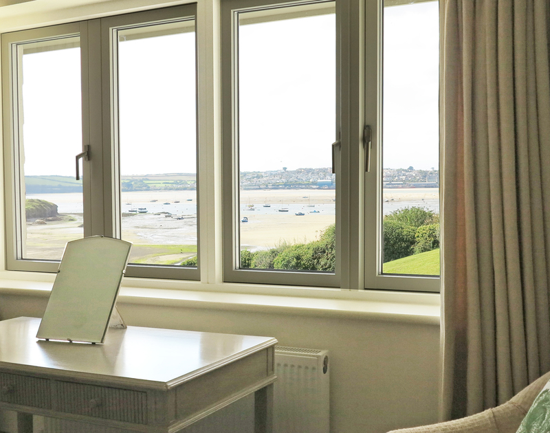 There are wonderful sea views towards Padstow from the second bedroom windows at Harbour Lights in Rock, Cornwall