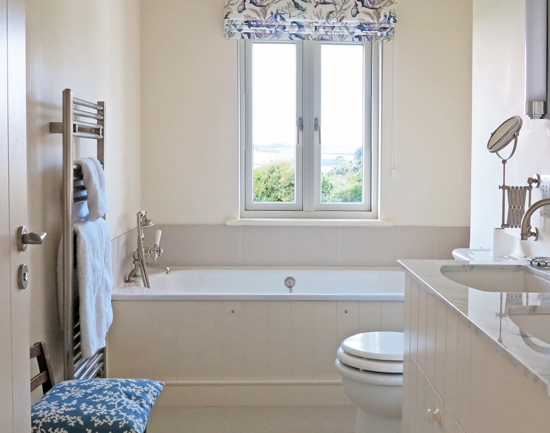 Enjoy yet more views from the third bedroom ensuite bathroom at Harbour Lights, in Rock, North Cornwall.