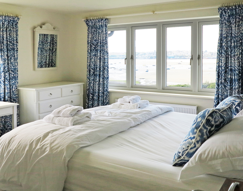 The third superking bedroom suite at Harbour Lights in Rock, Cornwall, has glorious estuary views from its dual aspect windows