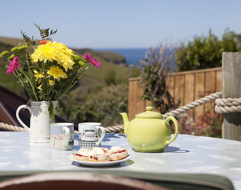 A perfect spot to indulge in a Cornish cream tea at Fronthill House in Port Isaac, Cornwall.