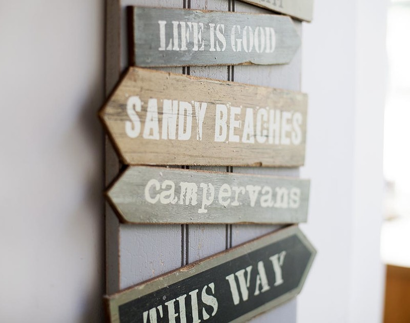Fun sign detail at self catering holiday property Fronthill House in Port Isaac.