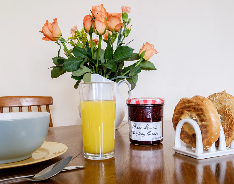 Enjoy the views of Polzeath beach while you tuck into breakfast or dinner at Coppingers Cottage.