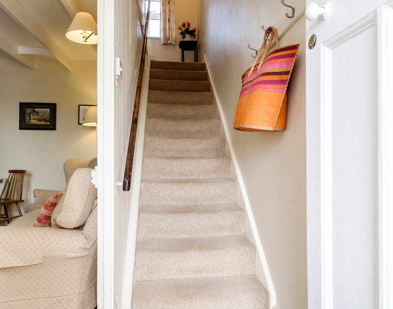 Coppingers Cottage entrance hall - a traditional sea side cottage to rent at Polzeath beach
