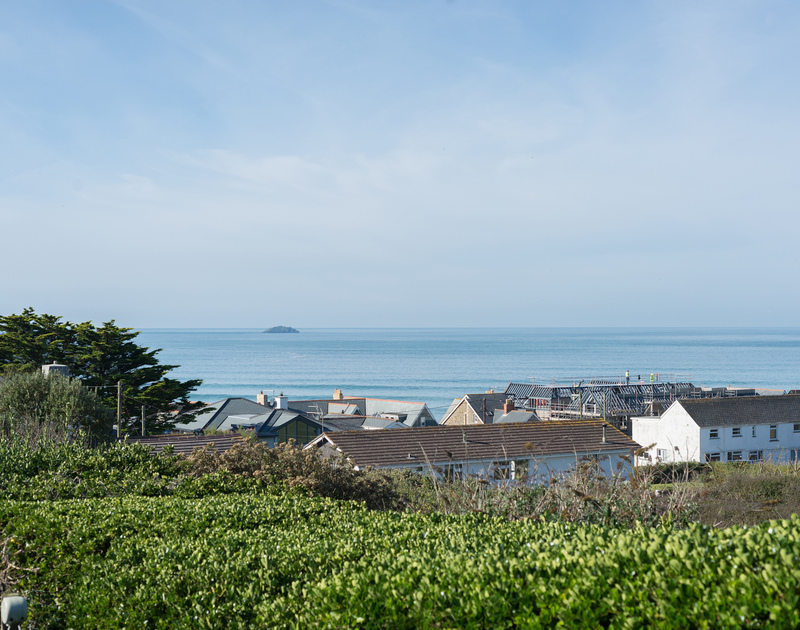 Views out to sea from The Glowdgie, a traditional self catering holiday home in New Polzeath, near Polzeath Cornwall.