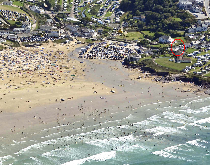 Coppingers Cottage in North Cornwall, is just a short walk away from Polzeath's popular blue flag surf beach