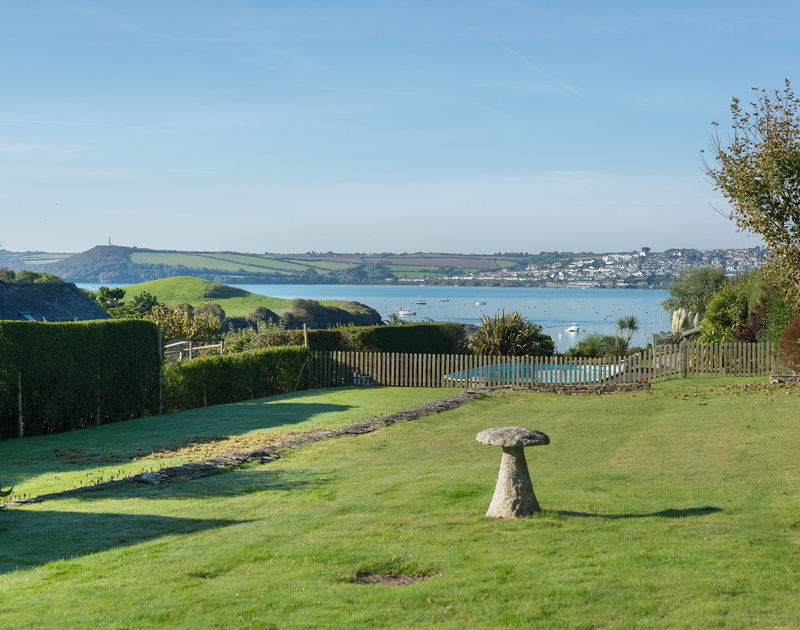 The estuary views from the garden at Sea Gulls are breathtaking with far reaching views of Padstow on the opposite bank.