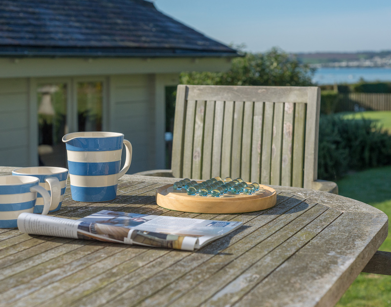 On sunny days head outdoors to make the most of the patio and garden at Sea Gulls in Rock on the Camel Estuary