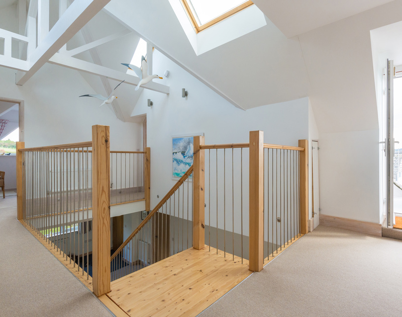 Sea Gulls is a contemporary family holiday home to rent in Porthilly near Rock on the Camel estuary
