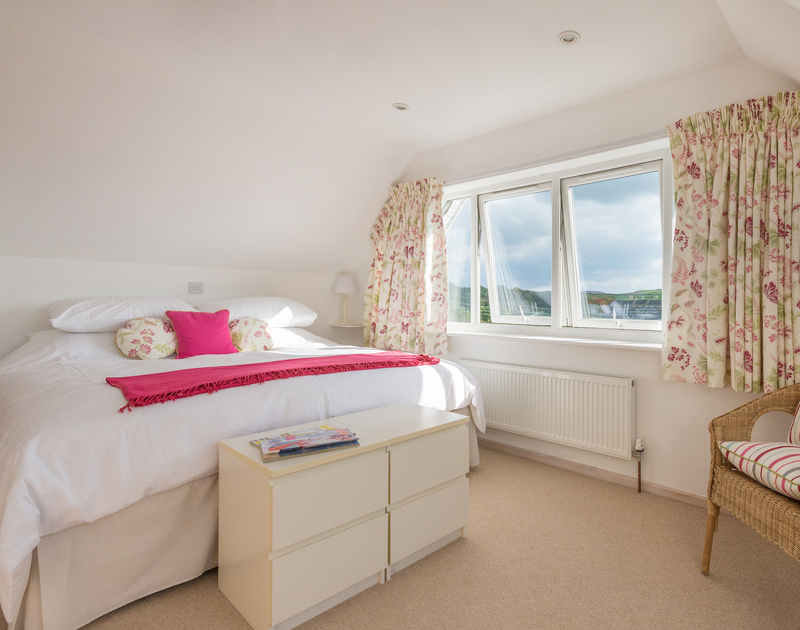 Natural light floods the first floor master bedroom suite at Sea Gulls in Rock, on the Camel estuary in North Cornwall