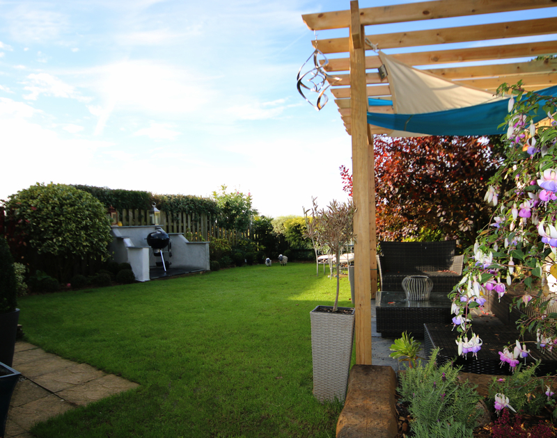 Myth Cottage in Rock has a dedicated BBQ area iin the mature lawned garden for alfresco cooking