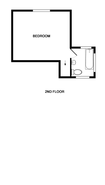 The mezzanine second floor plan of Appleby a new lovely self catering holiday home in Daymer Bay