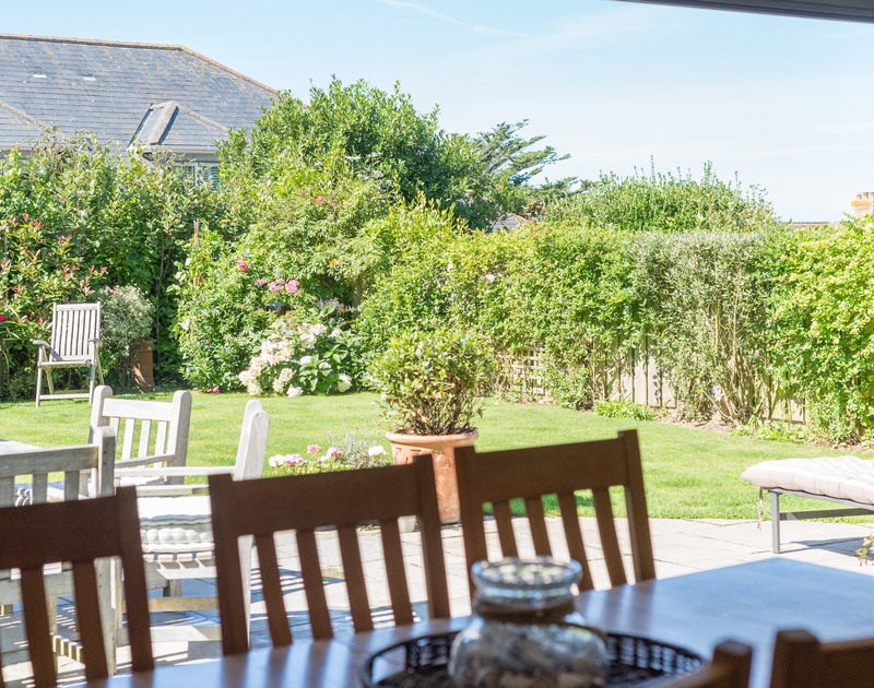 Open up the bi-fold patio doors on sunny days to make the most of sunny weather at Borlase, a luxury holiday house in Polzeath