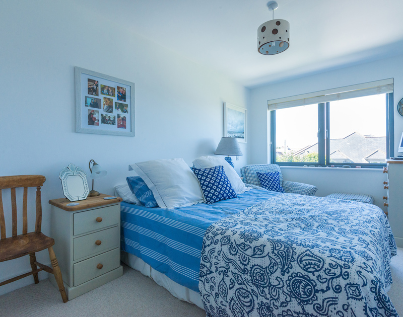 A light and airy double bedrooms at Borlase, a self catering holiday home in Polzeath