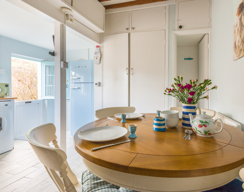 Open the stable back-door and let light flood into Fo'c'sle's kitchen, a charming holiday rental in Port Isaac