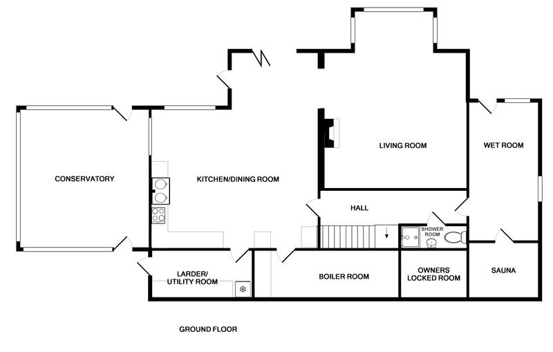 The ground floor plan of Treverden