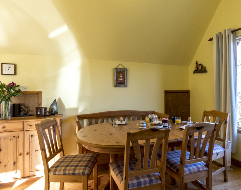 Enjoy family meals together in the open plan dining space at Owls Rest in Rock, Cornwall