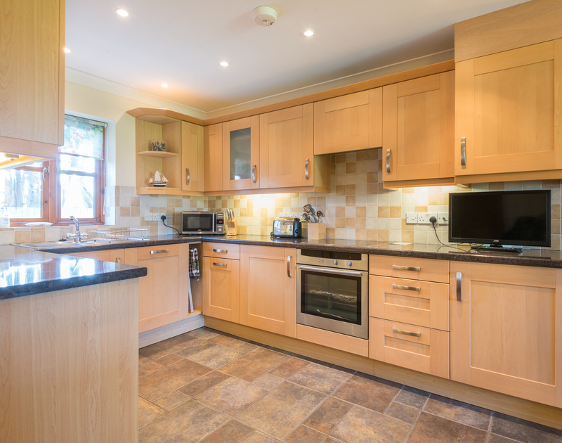The kitchen at Puffin Cottage, a self catering family holiday house to rent in Rock, North Cornwall.
