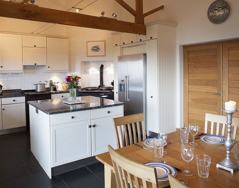 Prepare delicious meals in the kitchen at Ossco - a self catering family house in Polzeath with stunning sea views