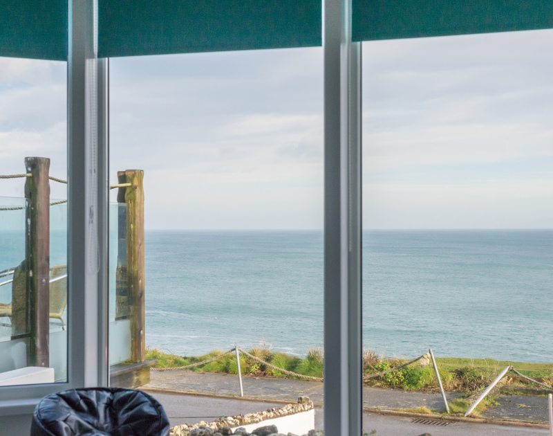 Watch the ever changing seascape from the living spaces in The View, a contemporary self catering holiday home in Port Isaac, Cornwall.
