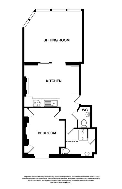 The floor plan for The View, a self catering holiday retreat for up to four guests in pretty Port Isaac in North Cornwall.
