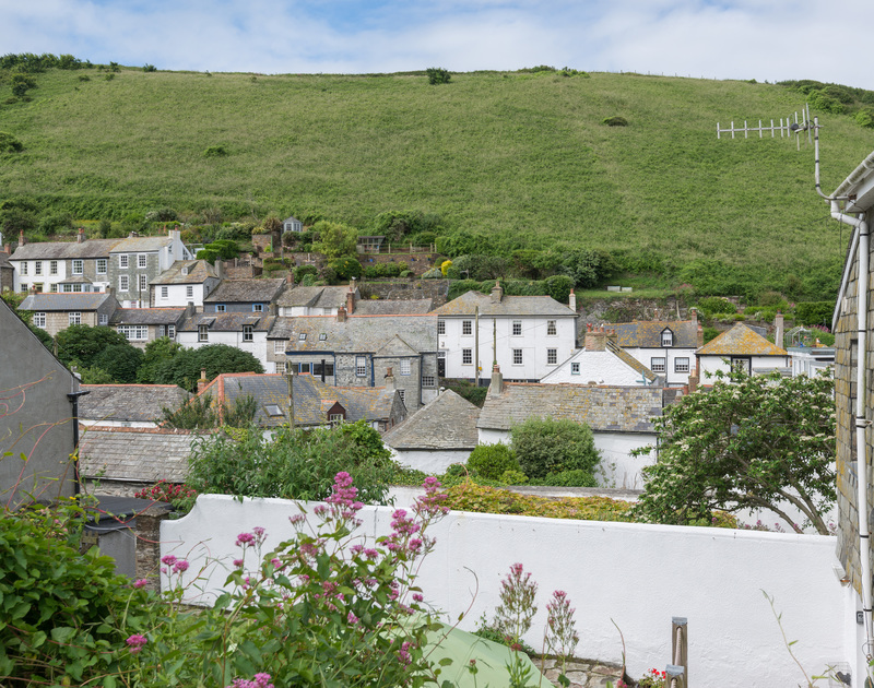 Enjoy a coffee with this view at Poplar Cottage, a traditional self catering cottage in Port Isaac, Cornwall.