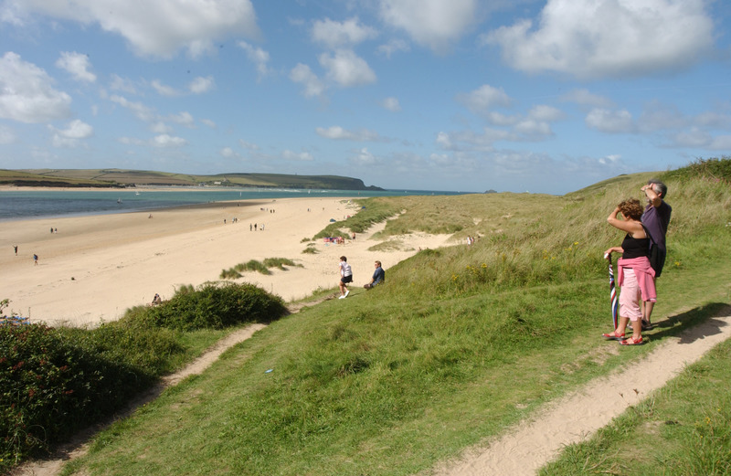 The walk from Rock quarry car park meanders along golden sands by the Camel Estuary and through the dunes towards Daymer Bay