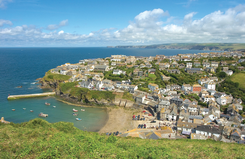 As you climb the hill enjoy the view looking back at Port Isaac's fishing village and sheltered harbour