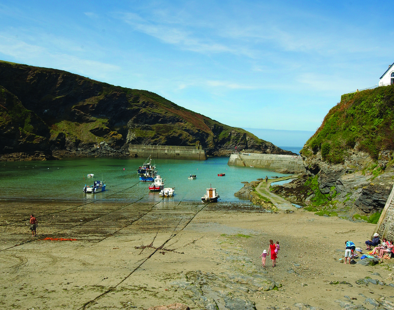 Enjoy a picnic and explore Port Isaac beach at low tide and walk out to the harbour wall for some crabbing