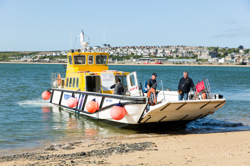 Catch the ferry across the Camel Estuary to Padstow to start your walk in Rock, Cornwall