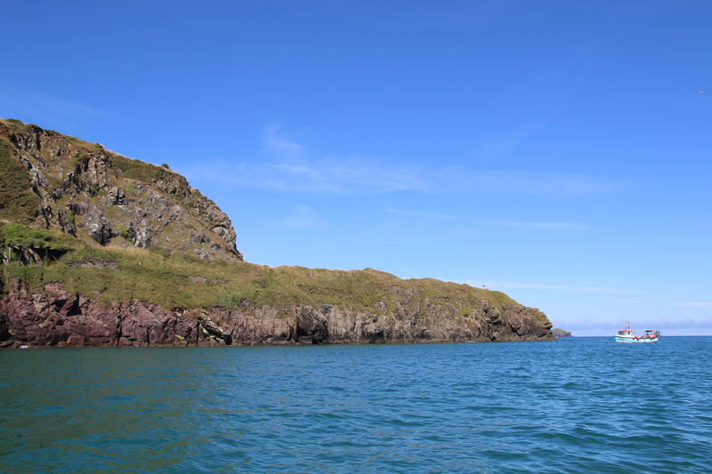 The headland at Pentire Point near Padstow, was carved away to improve visibility for incoming boats