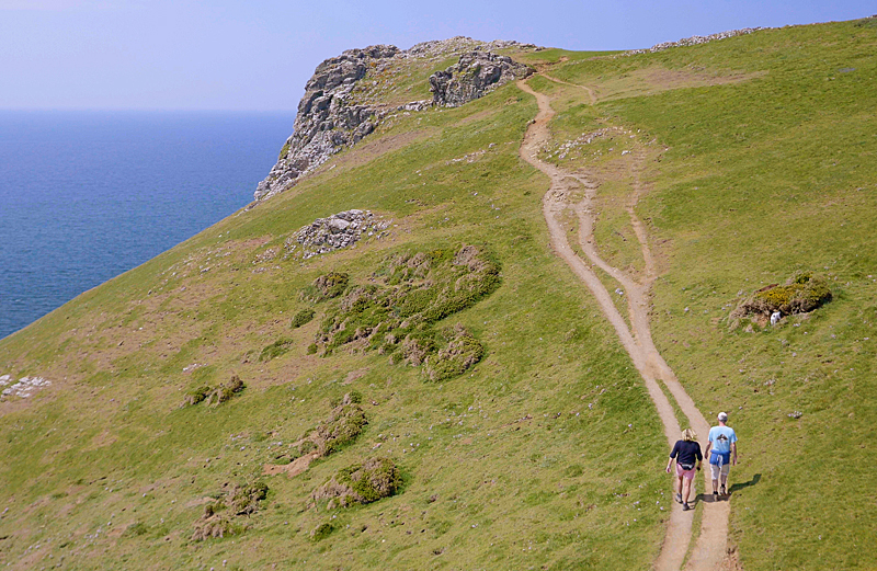 Enjoy stunning scenery on the walk up to Pentire Point and The Rumps on the North Cornwall coast