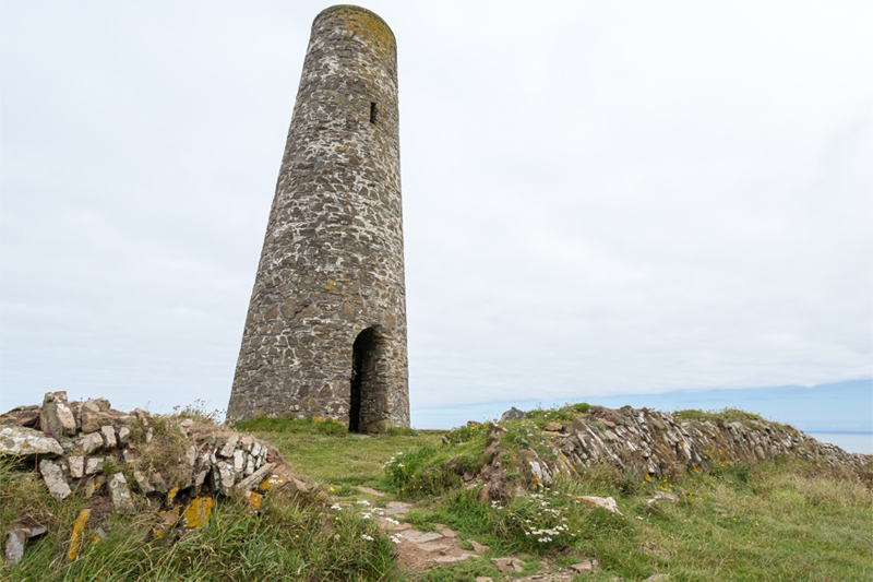 The Pepper Pot or Daymark Tower on Stepper Point is a daylight navigation beacon for seafarers.