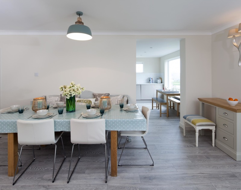 Enjoy formal dining at Brae Heights, a luxurious self catering holiday house in Daymer Bay, Cornwall
