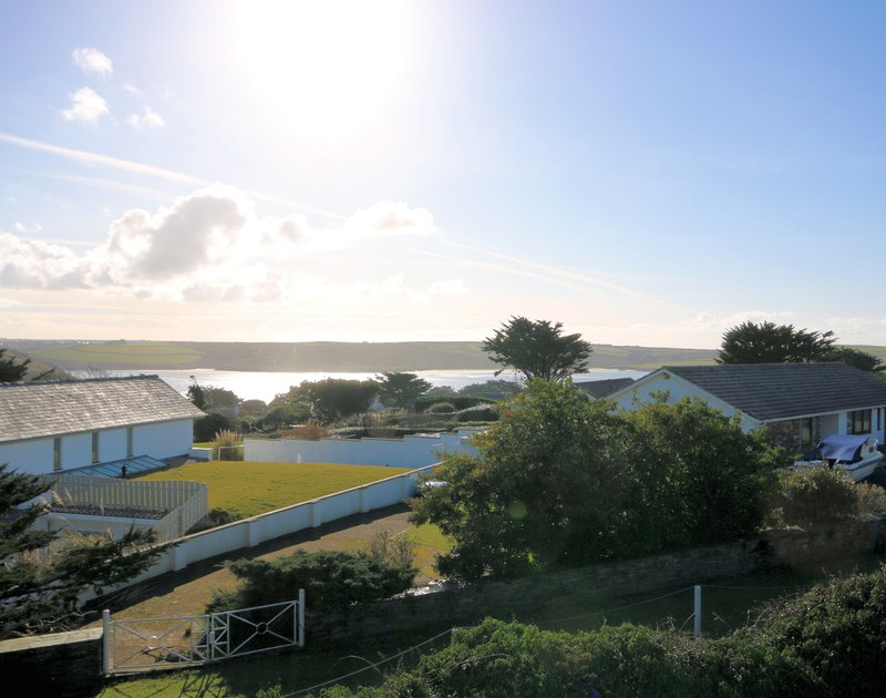 Wake up to this gorgeous Camel Estuary view from the master bedroom at Brae Heights, a self catering holiday home in Daymer Bay, Cornwall