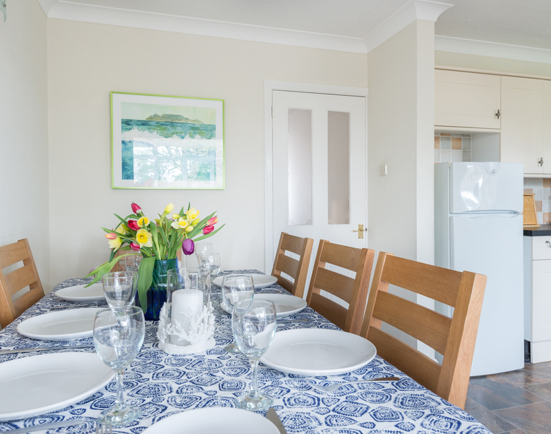 Perhaps enjoy a seafood supper at Scarthoe's dining table