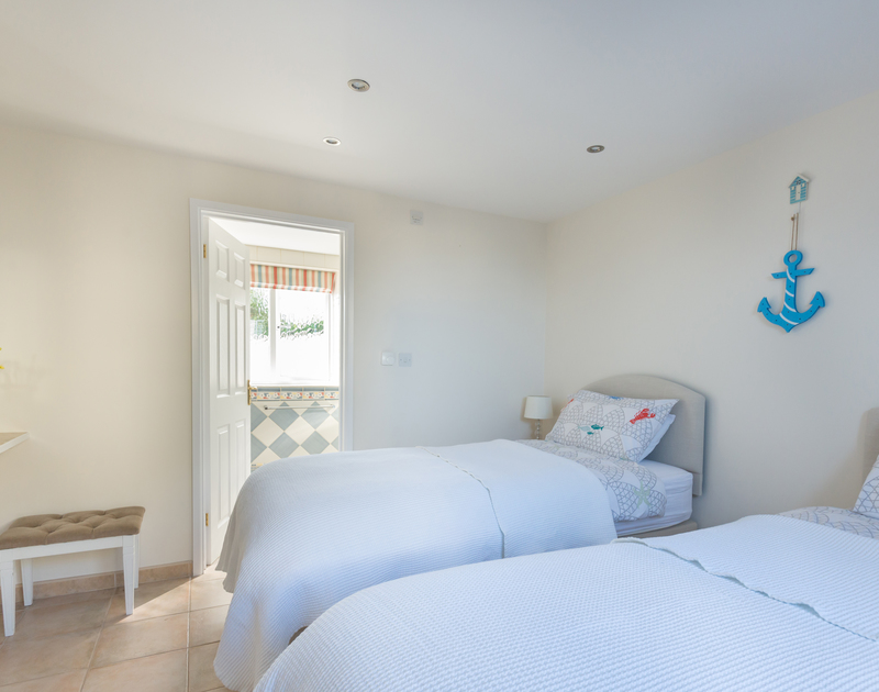 The twin beds at Polmorla can be zip and linked to form a double bed if required