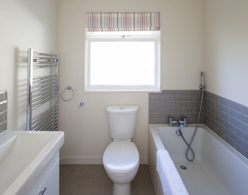 The brand new bathroom in self catering, seaside holiday property Brae Heights,Daymer Bay.