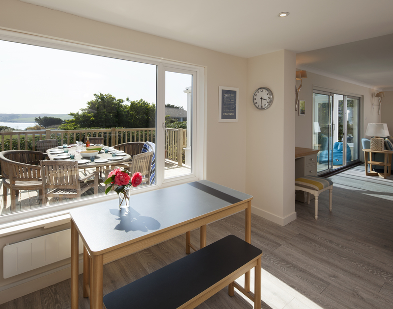 Enjoy stunning views from the kitchen table or outside on the terrace at Brae Heights