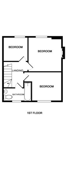The first floor plan for self catering holiday cottage The Porthole in Port Isaac, Cornwall.