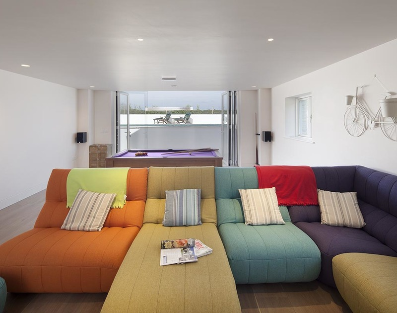 Let the kids, big and small, loose in the colourful games and TV room at Mordros.