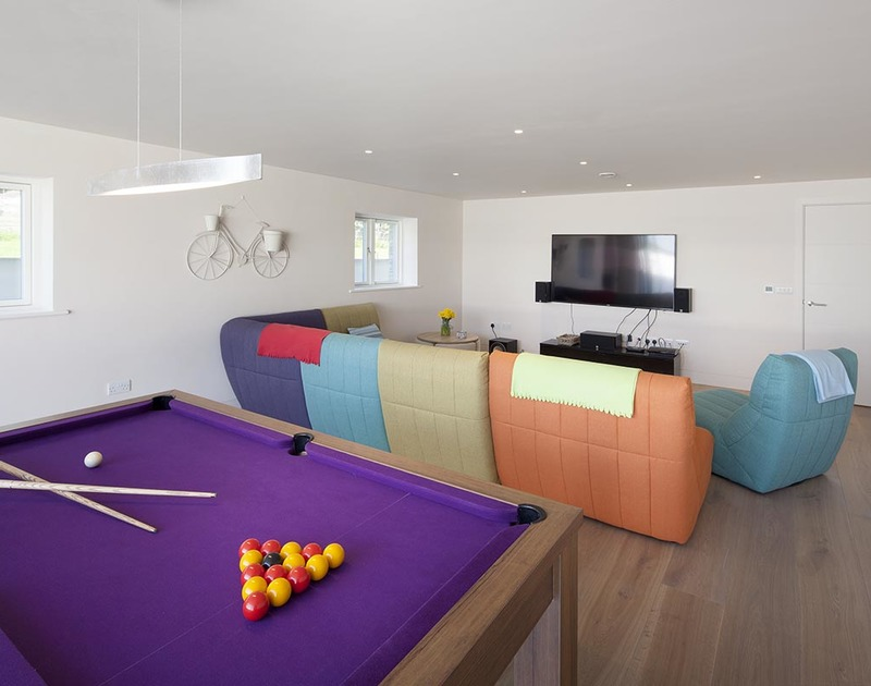 Fun to be had for all the family in the games room at self catering holiday property Mordros in Daymer Bay, Cornwall.