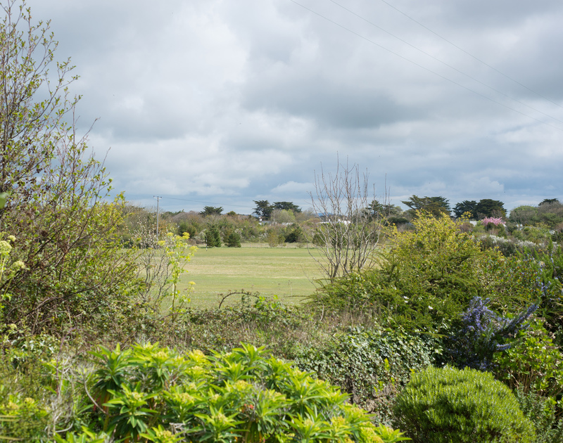 Views from self catering holiday property Penny Liggan over the well known golf course St Enodoc, close to the Camel Estuary in Rock.