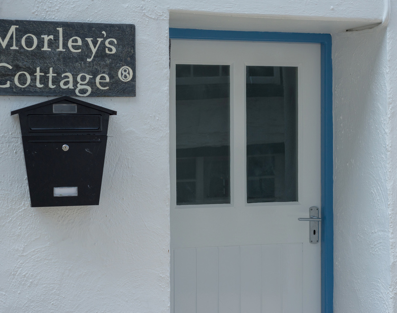The entrance to Morleys Cottage, a self catering cosy family retreat or a romantic getaway on the North Coast in Port Isaac.