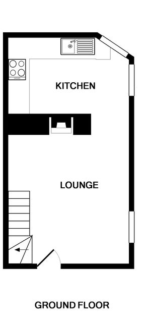 The ground floor plans for Morleys Cottage.