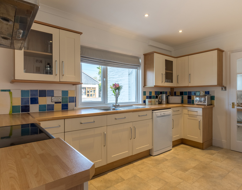 Cook up some great family meals in the kitchen at The Moorings, a self catering holiday cottage in Rock, Cornwall